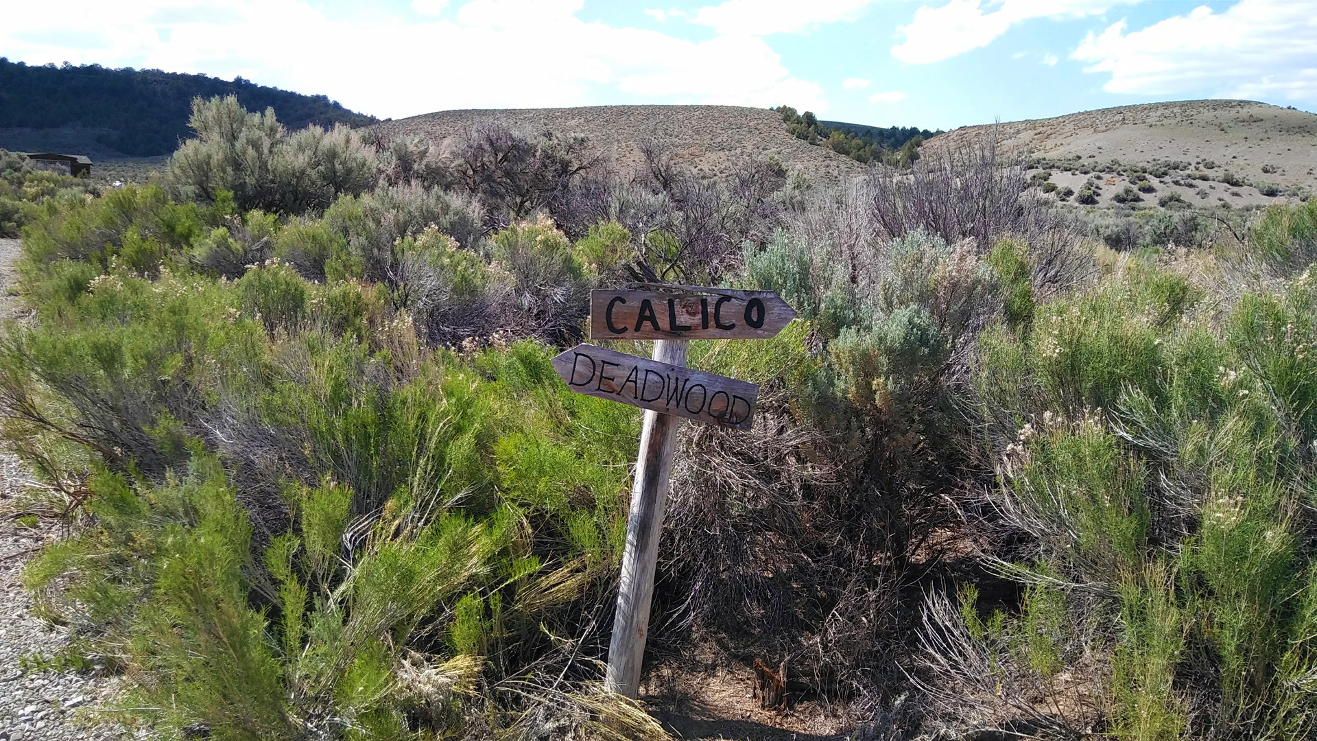 Calico and Deadwood trail signs