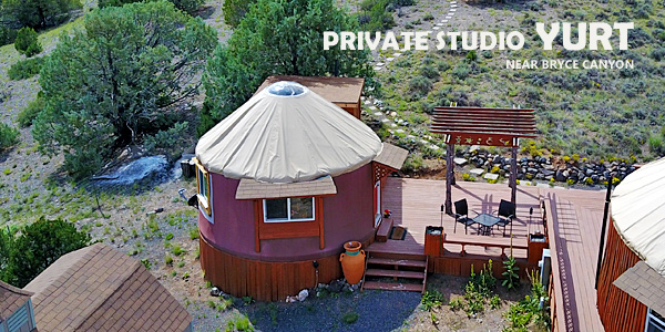 Private Studio Yurt near Bryce Canyon