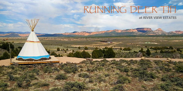 Running Deer TIPI near Bryce Canyon