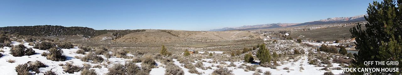 Off Grid Cabin - Rock Canyon Panoramic Photo