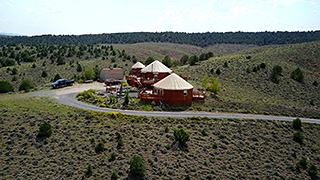 Bryce Canyon Yurts - Drone Photo