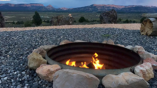 Running Deer TIPI near Bryce Canyon - Guest Photo Fire Pit