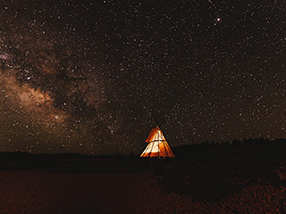 Running Deer TIPI near Bryce Canyon - Milky Way Galaxy