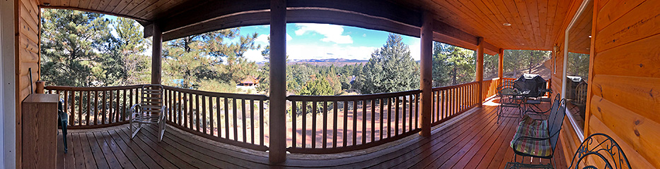 Zion - Bryce Midway 3-Story Hi-Tech Cabin Deck Pano